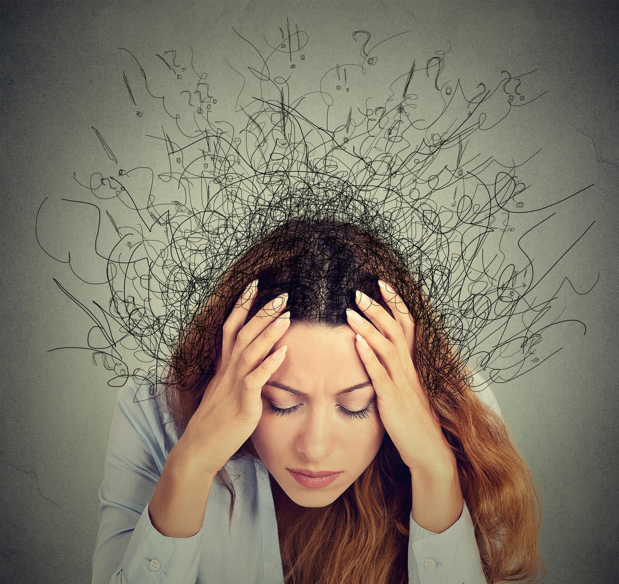 Woman feeling anxious