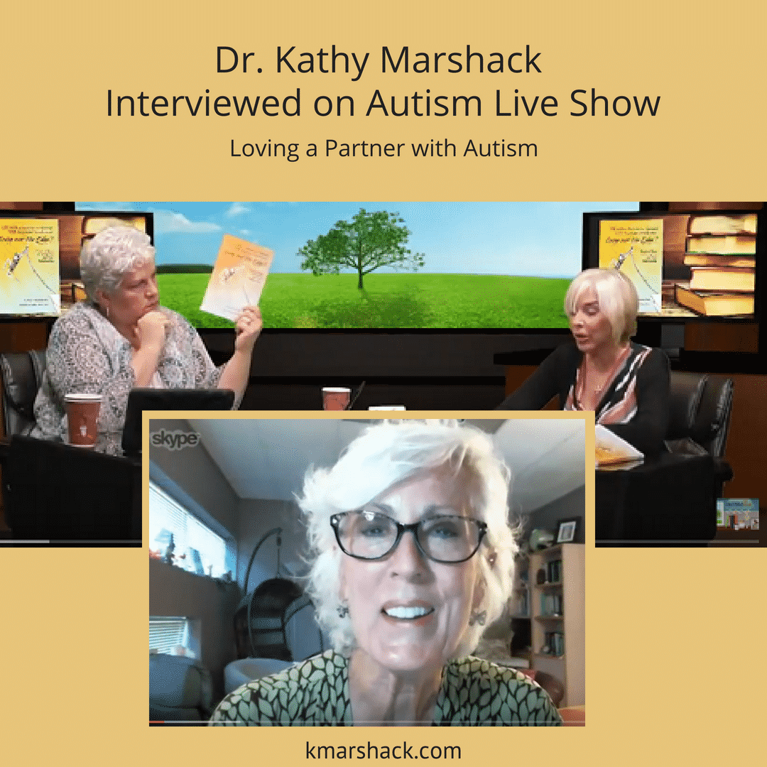 """Shannon Penrod and Nancy Alspaugh-Jackson interviewed Dr. Kathy Marshack on their """"Autism Live Show""""."""